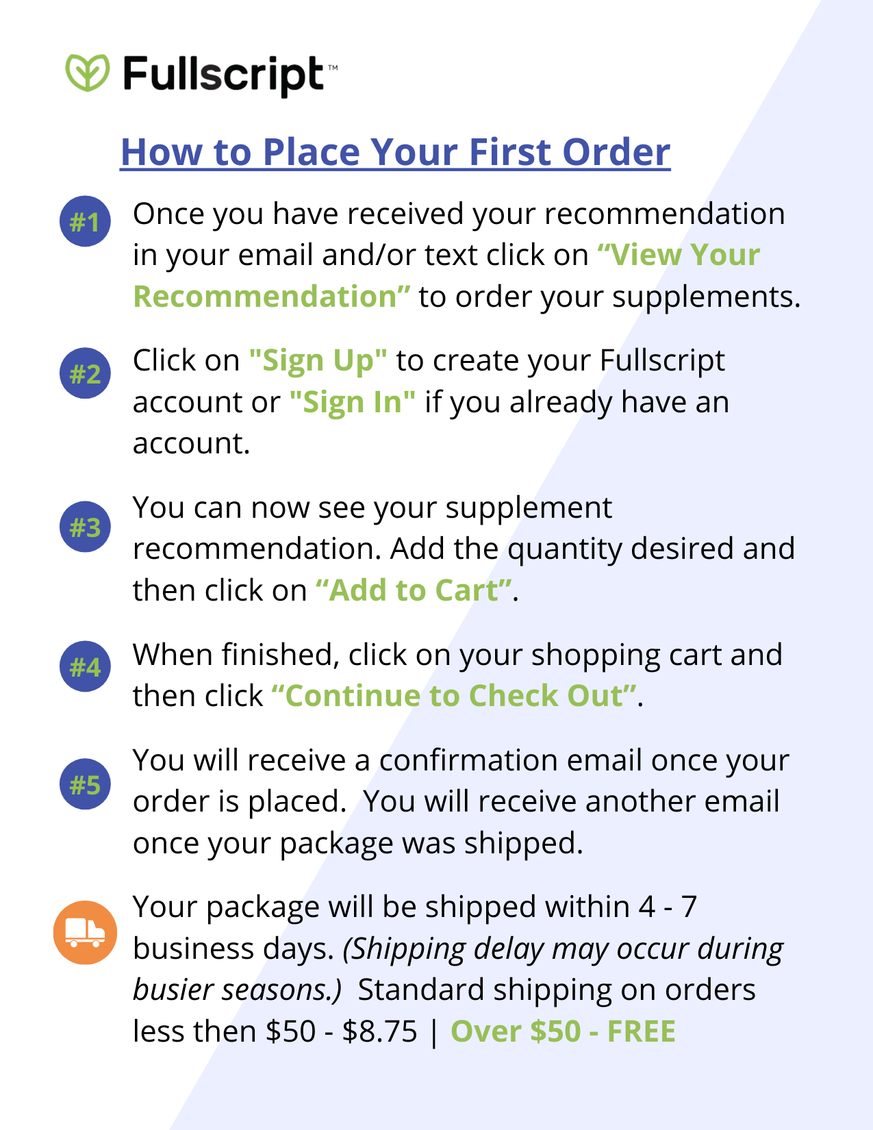 How to place your first order